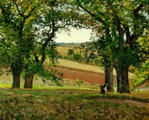 Camille Pissarro The Chestnut Trees at Osny Oil Painting