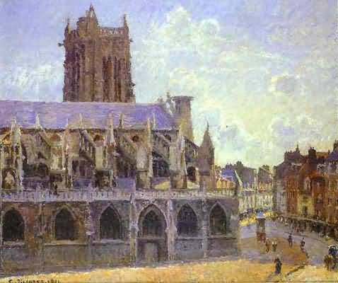 Camille Pissarro The Church of St Jacques at Dieppe Oil Painting