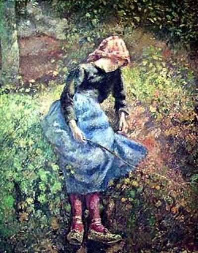 Camille Pissarro The Turkey Girl Oil Painting