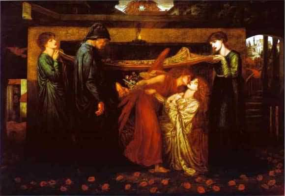 Dante Gabriel Rossetti Dante s Dream at the Time of the Death of Beatrice Oil Painting