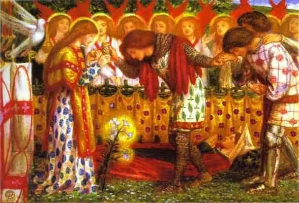 Dante Gabriel Rossetti How Sir Galahad Sir Bors and Sir Percival Oil Painting