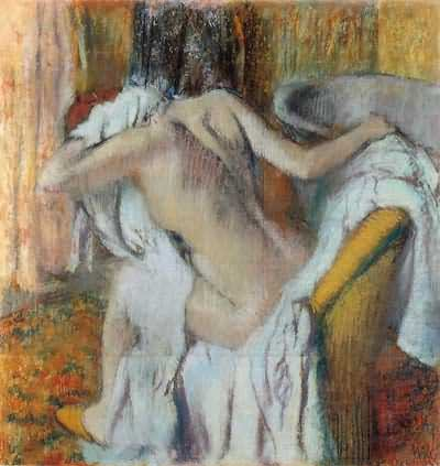 Edgar Degas After the Bath Oil Painting