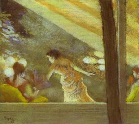 Edgar Degas At the Cafe des Ambassadeurs Oil Painting