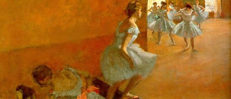 Edgar Degas Dancers Climbing the Stairs Oil Painting