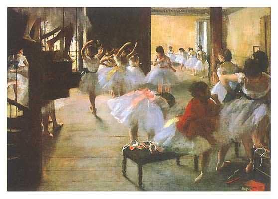 Edgar Degas Ecole De Danse Oil Painting