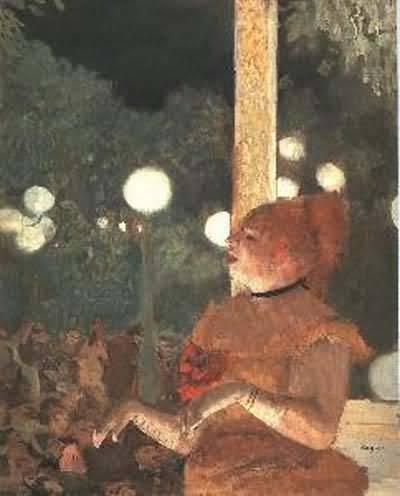 Edgar Degas Le Chansan du Chien Oil Painting