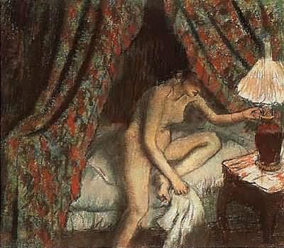 Edgar Degas Retiring Oil Painting