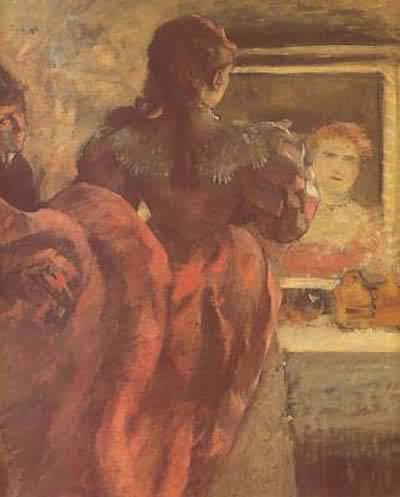 Edgar Degas The Cafe Singer Oil Painting
