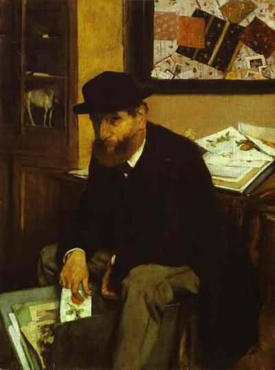 Edgar Degas The Collector Oil Painting