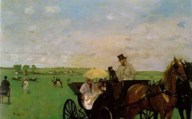 Edgar Degas The Meet Oil Painting