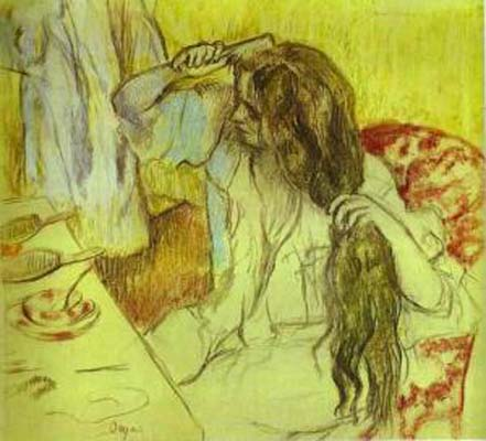 Edgar Degas Woman at Her Toilette Oil Painting