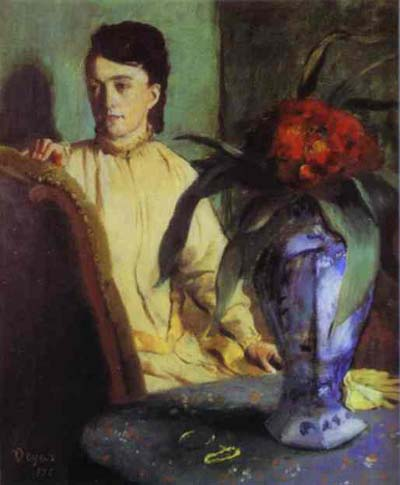 Edgar Degas Woman with Porcelain Vase Oil Painting