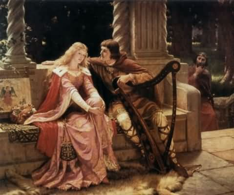 Edmund Blair Leighton Tristan and Isolde Oil Painting
