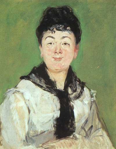 Edouard Manet A Lady with a Black Fichu Oil Painting