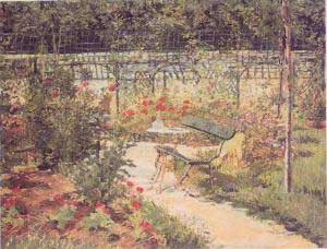 Edouard Manet Banc Bench Oil Painting