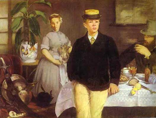 Edouard Manet Luncheon in the Studio Oil Painting