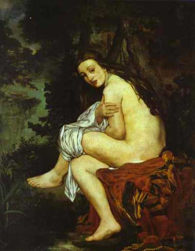 Edouard Manet Surprised Nymph Nymphe surprise Oil Painting
