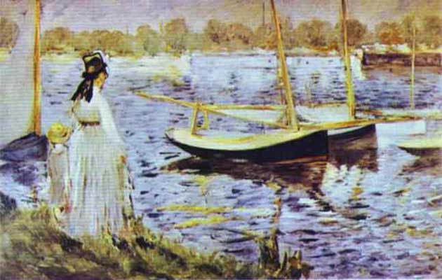 Edouard Manet The Banks of the Seine at Argenteuil Oil Painting