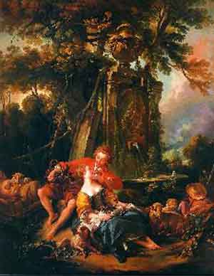 Francois Boucher autumn in the countryside Oil Painting