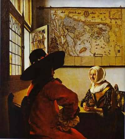 Jan Vermeer Soldier And A Laughing Girl Oil Painting