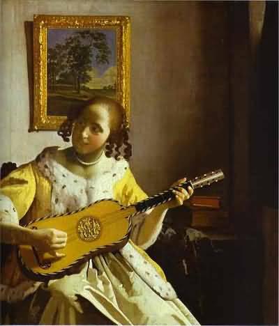 Jan Vermeer The Guitar Player Oil Painting
