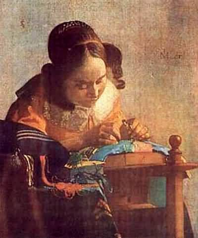 Jan Vermeer The Lacemaker Oil Painting