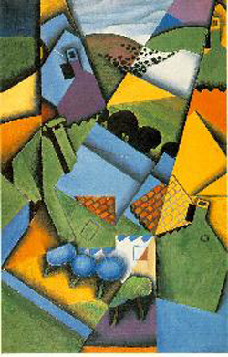 Juan Gris Landscapes With Houses At Ceret Oil Painting