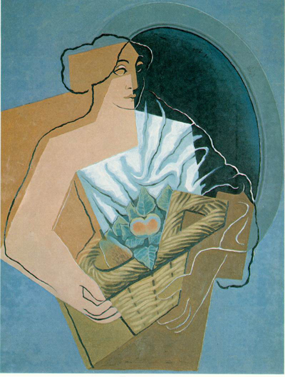 Juan Gris Woman With A Basket Oil Painting