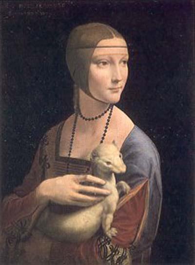 Leonardo da Vinci Lady With An Ermine Oil Painting