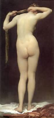 Lord Frederic Leighton Standing Nude Figure Seen From Behind Oil Painting