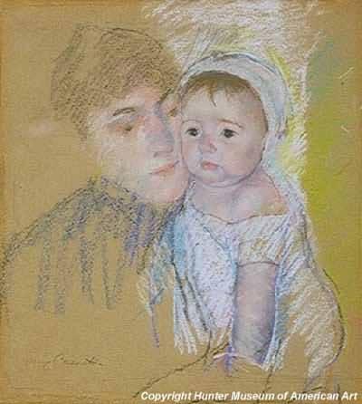 Mary Cassatt Baby Bill in Cap and Shift Oil Painting