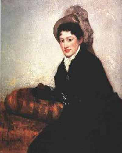 Mary Cassatt Portait of a Woman Dressed for the Matinee Oil Painting