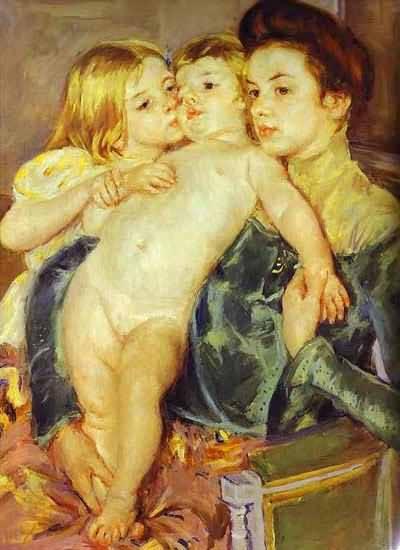 Mary Cassatt The Caress Oil Painting