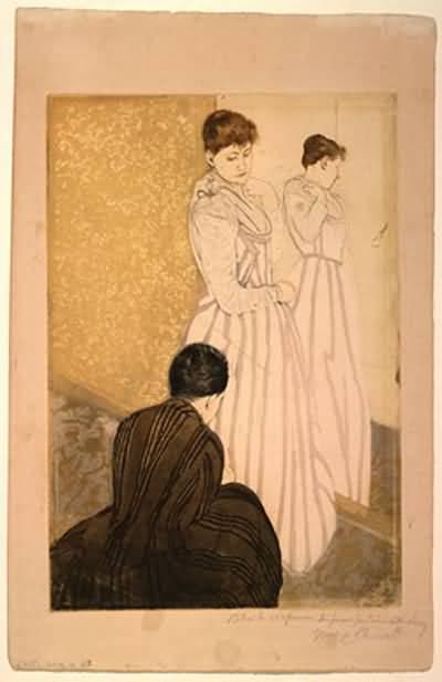 Mary Cassatt The Family Oil Painting