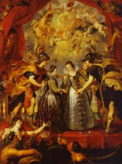 Peter Paul Rubens The Exchange of Princesses Oil Painting