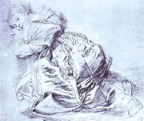 Peter Paul Rubens Young Woman Kneeling Oil Painting