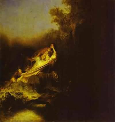 Rembrandt van Rijn The Abduction of Proserpine Oil Painting