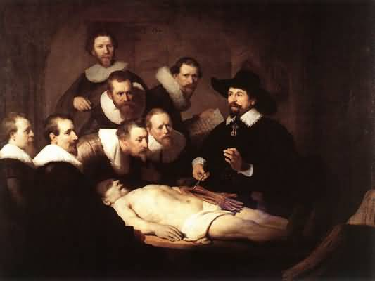 Rembrandt van Rijn The Anatomy Lecture of Dr Nicolaes Tulp Oil Painting