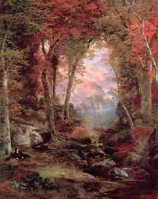 Thomas Moran The Autumnal Woods Oil Painting