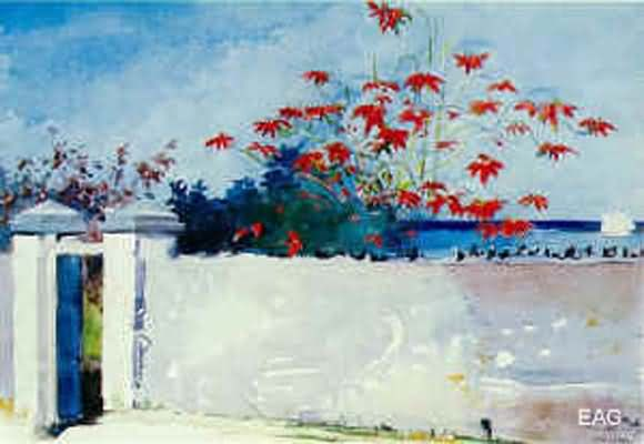 Winslow Homer A Wall Nassau Oil Painting