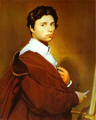 Jean Auguste Dominique Ingres Self Portrait at the Age of 24 Oil Painting