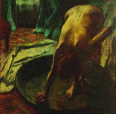 Edgar Degas The Tub Oil Painting