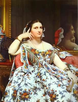 Jean Auguste Dominique Ingres Portrait of Madame Moitessier Sitting Oil Painting