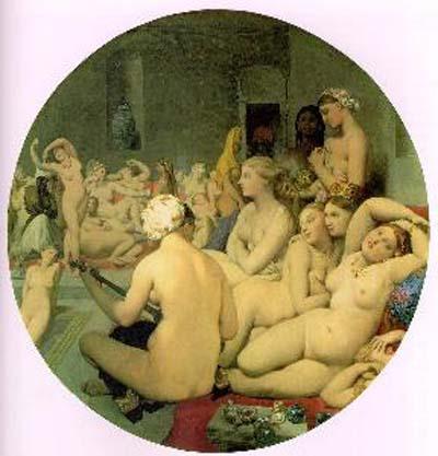 Jean Auguste Dominique Ingres Le Bain Turk Oil Painting