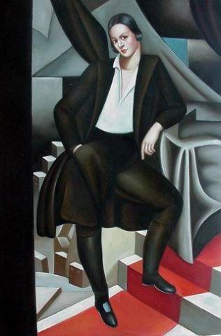 Portrait after Lempicka