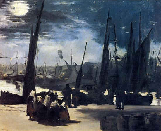 Moonlight over the Port of Boulogne. 1869