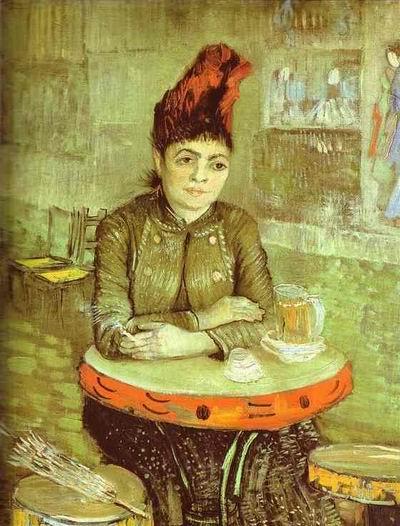 Agostina Segatori Sitting in the Cafe du Tambourin,Paris: February March, 1887