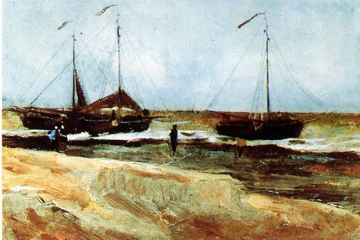 Beach at Scheveningen in Calm Weather The Hague: August, 1882