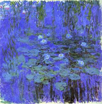Blue Water Lilies. c.1916 1919