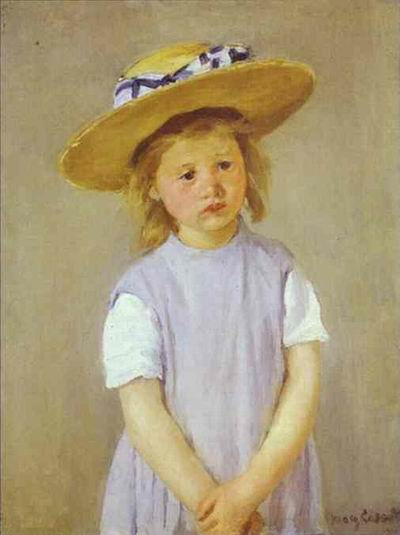 Child in a Straw Hat. c. 1886